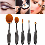 Culater® 5PC Pro Cosmetic Makeup Face Powder Blusher Toothbrush Curve Liquid Foundation Eyeliner Lip Oval Brushes