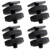 Phot-R­® 10cm x 0.6cm -20 Dual Nuts Tripod Mount Screw to Flash Digital Camera Hot Shoe Adapter