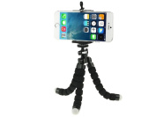 Phot-R Mini Small Universal Flexible Tabletop Tripod with Smartphone Holder Mount for Smartphones