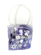 1 Bag Containing 14 PURPLE Girls Hair Accessories Ponios Claw Clamps In Little Bag Party Fillers
