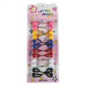12Pcs Little Annie hair band ponytail holder Bobbles Assorted Colours