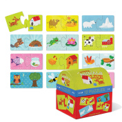Croc Creek 2pc Puzzle Set 12 Where Animals Live