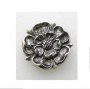 Tudor Rose pin badge fine english pewter handmade