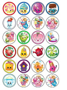24 x Shopkins Cupcake Cake Toppers