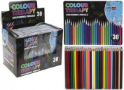 Colour Therapy Branded Pack of 30 Colouring Pencils, Perfect for Stress Relief
