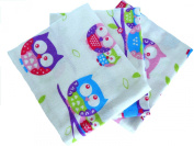 Babymajawelt® Baby Flannel sheets / covers 70x80 - Owls- 3Pack -Limited