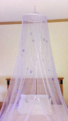 Mosquito Nets 4 U Princess Butterfly Bed Canopy, Lilac
