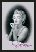Empire 544360 Printed Mirror with Wood-Effect Plastic Frame 30 x 40 cm Marilyn Monroe Make-Up Design