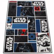 CHILDRENS RUG - KIDS RUG - Children's Star Wars Icons Rug 95cm x 133cm