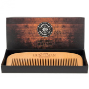 Hair and Beard Comb - Perfect for Beard Balms and Oils - Anti-Static, No Snag Wooden Brush - Presented in Gift Box