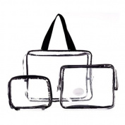 Three piece PVC bag travel set by TARGARIAN
