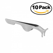 Tinksky Professional False Eyelashes Extension Applicator Remover Clip Tweezers Nipper Pack of 10