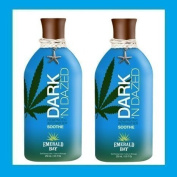 2 X EMERALD BAY DARK'N DAZED DARK N SUNBED CREAM LOTION CREAM 250ML SENT TRACKED