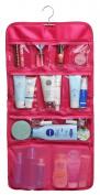 WODISON Transparent Clear Hanging Travel Toiletry Cosmetic Organiser Storage Bag Rose