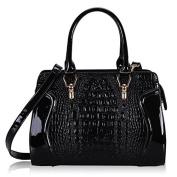 Whoinshop Women's Crocodile Pattern Tote Crossbody Shoulder Bags Top Handle Handbags