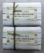 Castelbel Sea Salt & Lemon 300gram Bath Soap Bar - 2 Bars