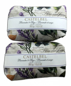 Castelbel Lavender & Sage 300gram Bath Soap Bar - 2 Bars