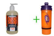 Best Everyone, Hand Soap, Orange + Spice, Limited Edition, 12.75 fl oz (377 ml)(5 PACK ), Now Foods, 3 in 1 Sports Shaker Bottle, 25 oz BUNDLE
