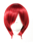 Coolsky Wig Red Wig Short Red Straight Wig Starry Sky Yoh Tomoe Henri Natural Hair Line