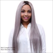 Ombre Colour Brazilian Virgin Human Hair Silky Straight Full Lace Wig For Black Women Glueless Lace Front Wig 130 Density
