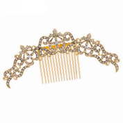 Smile Gold Plated Hair bs Rhinestoneystals Hairpins BridalHair Jewellery