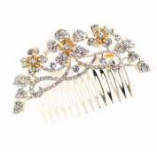 Smile Goldystals Rhinestone Hair b Flower HairPins BridalHair JewelryR