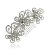 Smile Jewellery Bridal HairpinsClear Rhinestoneystals Tiara Flower Hair b Headband For FA
