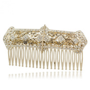 Smile Rhinestoneystals Palace Hair b Tiara Headband Women PartyBridal HairpinsVintage Gold Plated