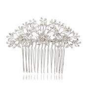 Smile Silver Flower Women Hairpins Rhinestoneystals Hair b BridalHair Jewellery Accesssories R