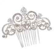 Smile Silver Zir Women Hairpins Rhinestoneystal Hair b BridalHair JewelryR