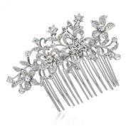 Smile WomenBridal Hair b Hairpins Hair Jewelrywith Clear Rhinestoneystal