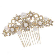 Smile Gold Rhinestoneystal Pearl Hair Flower Hair b Hairpins Women Bridal Jewellery R