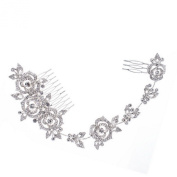 Smile Rose Flower Rhinestone Long Hair bs Hairpins Girl Hair Pin Head Jewellery for Women BridalHead