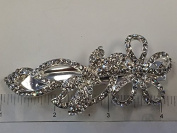 Crystal Hair Barrette With Silver Colour Metal Clip