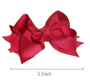 Zcoins Pick 10pcs 8.9cm Layered Spike Hair Bow Clips with Matching Colour Alligator Clips Baby Girl Kids Chunky Hairbows