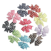 Zcoins 9pcs Grosgrain Ribbon Pinwheel Fashion Headbands Boutique Hair Bows Alligator Clips For Baby Girls Kids Teens Toddlers Children