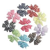 Zcoins 9pcs Grosgrain Ribbon Pinwheel Fashion Headbands Boutique Hair Bows Alligator Clips For Baby Girls Kids Teens Toddlers Children