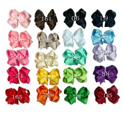 Zcoins Pick 10pcs 10cm Large Double Layered Boutique Ribbon Hairclips Bows on Lined Clips for Baby Girl Kids