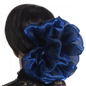 Bowknot Satin Hair Claw Floral Hair Grips Hair Accessories Corrugation Sheeny #F802