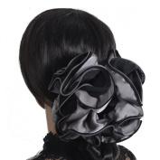 BI-colour Satin Hair Claw Hair Grips Large Flowers Hair Accessories F801