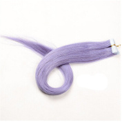 DH 60cm Straight Remy Clip Real Human Hair Coloured Party Highlight Clip 10 Pcs