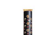 Hair Glove 10cm Black Leather Cut Out Fleur de Lis w/Red Stones 34001