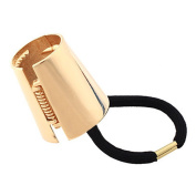 Asher Fashion Women Punk Ponytail Holder Metal Opened Circle Cuff Golden Hair Band