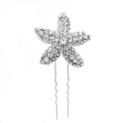 Bridal Brilliant Rhinestone Starfish Hair Pin