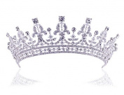 Sunshiny Women's Prom Queen Crystal Rhinestones Crown Tiara Wedding Bridal Pageant Princess Crown Headband