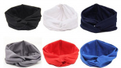Women Turban Twist Headband Head Wrap Twisted Knotted Knot Soft Hair Band 6 pieces/lot