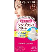 Salon De professional one push cream hair colour 4S suite Brown 40g + 40g