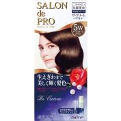 Salon De professional The cream hair colour (for grey hair) 5W Dark Warm Brown_
