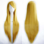 """Sminiker 32"""" 80cm Cosplay Hair Wig Long Straight Hair Heat Resistant Costume Party Full Wigs with Wig Cap Liner"""