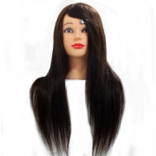 Neverland Beauty 60cm 80% Real Human Long Hair Hairdressing Cosmetology Mannequin Manikin Head Model with Clamp